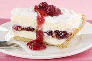 Cranberry-Walnut Cheesecake Pie recipe  #kraftrecipes