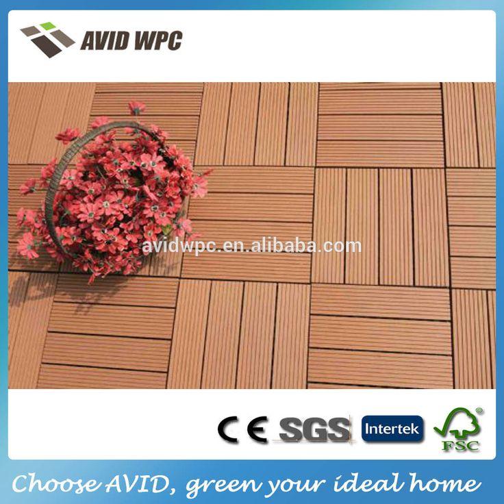 Facilità di montaggio impermeabile esterno wpc decking piastrelle per la vendita