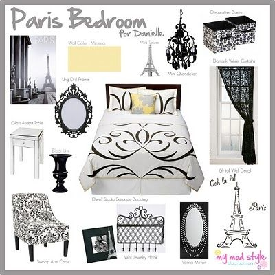 paris themed room decor