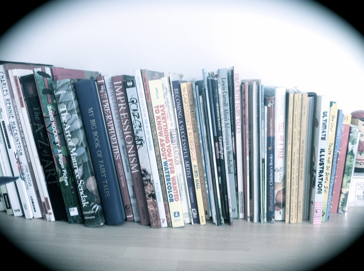 There's something about the spines of art books which I find inspiring.