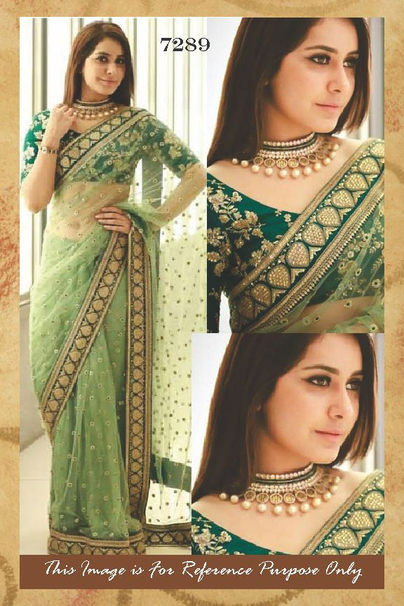 bridal sari new designer blouse bollywood indian wedding wear green saree fabric #designerindiabysandhya #Saree