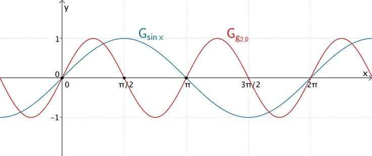 Graph der Funktion g₂₀ und Graph de Sinusfunktion