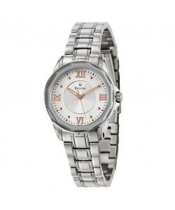 Dress Silver Dial Stainless Steel Ladies Watch 96L172