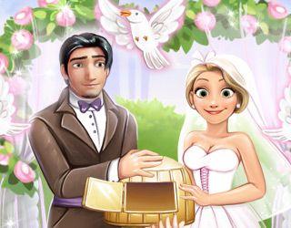 jogo de Rapunzel e Flynn noite de núpcias