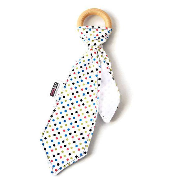 Baby wooden teething necktie