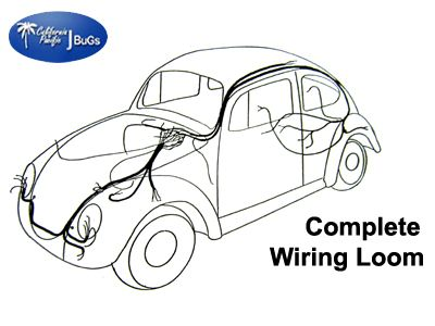 VW Complete Wiring Kit, Beetle Sedan 1962-1964 in 2020 ...