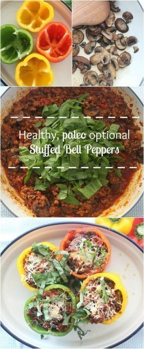 PALEO stuffed bell peppers. This recipe is insanely delicious and it is easy!!