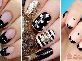 +140 Diseños de uñas decoradas color negro