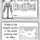 """This """"All About Russia"""" booklet can be used for a very basic country study in lower elementary grades!  Just print out the pages, have kids cut alo..."""