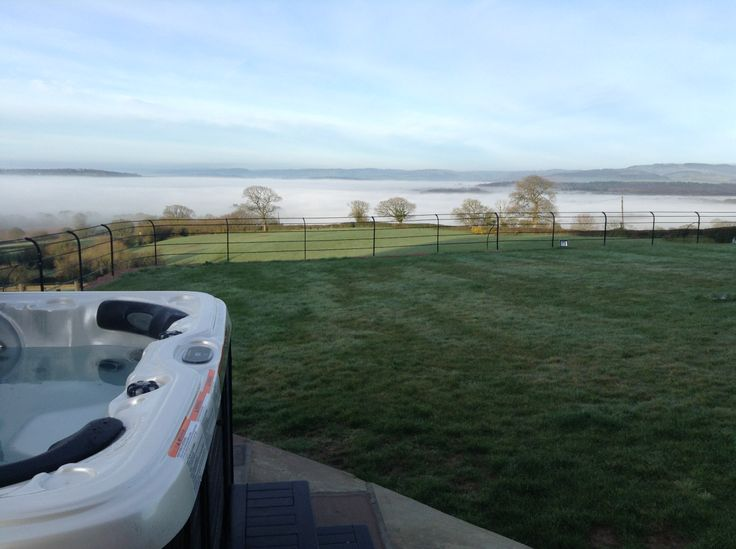 Stunning foggy view from our property Rock Farm