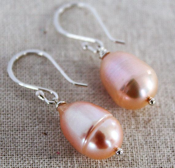 Natural Pink Baroque Pearl Earrings  South Sea Pearls by karioi, $119.00 http://etsy.com/shop/karioi