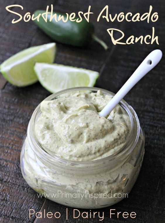 Southwest Avocado Ranch Dressing and Dip (dairy free, Paleo) | Primally Inspired