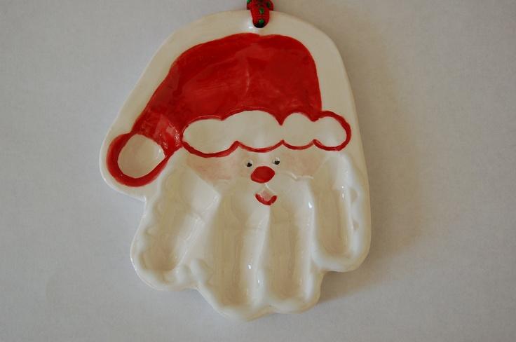 3 -D Santa Hand ornament