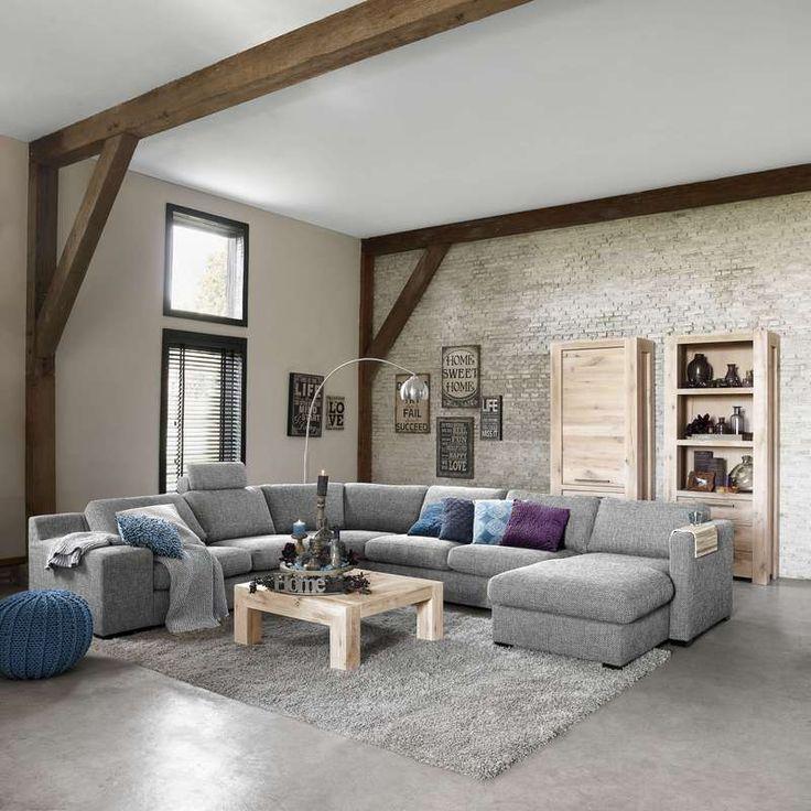 1000 idee n over grijze banken op pinterest lounge decor grijze bank decor en familie kamer - Woonkamer met hoekbank ...