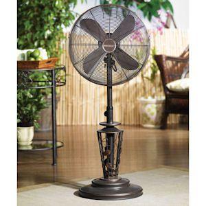 Beautiful Vines Outdoor Patio Fan   Floor Standing Outdoor Fan By Deco Breeze