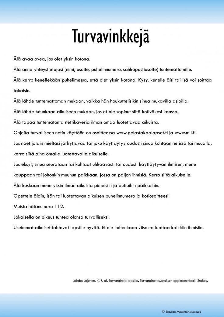 Turvataidot ja selviytyminen | Suomen Mielenterveysseura