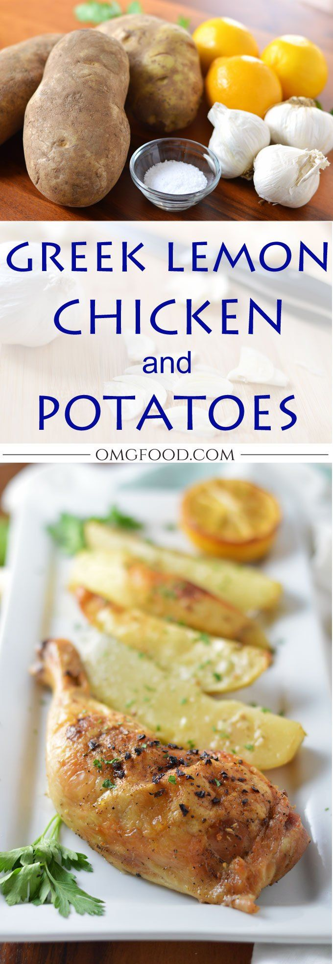 Greek Lemon Chicken and Potatoes | omgfood.com