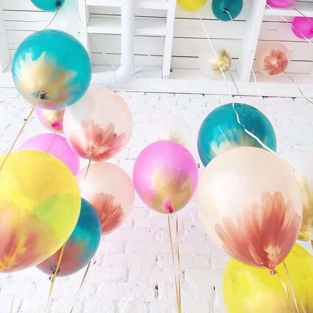 DIY twist to balloons.