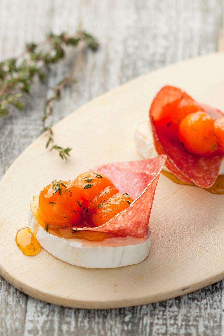 Köstliches Käse-Rezept: mit Géramont, Melone und Salami.