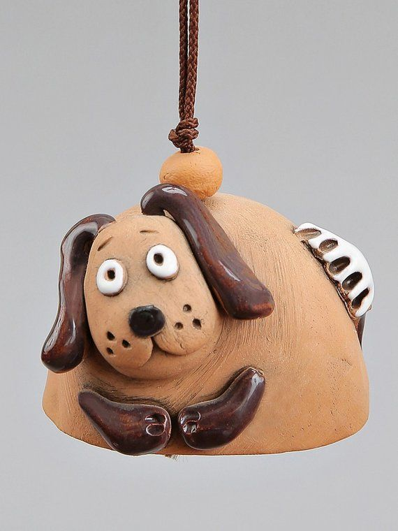 Small Ceramic Bells Dog Mouse Cat Cow School Accessory Baby
