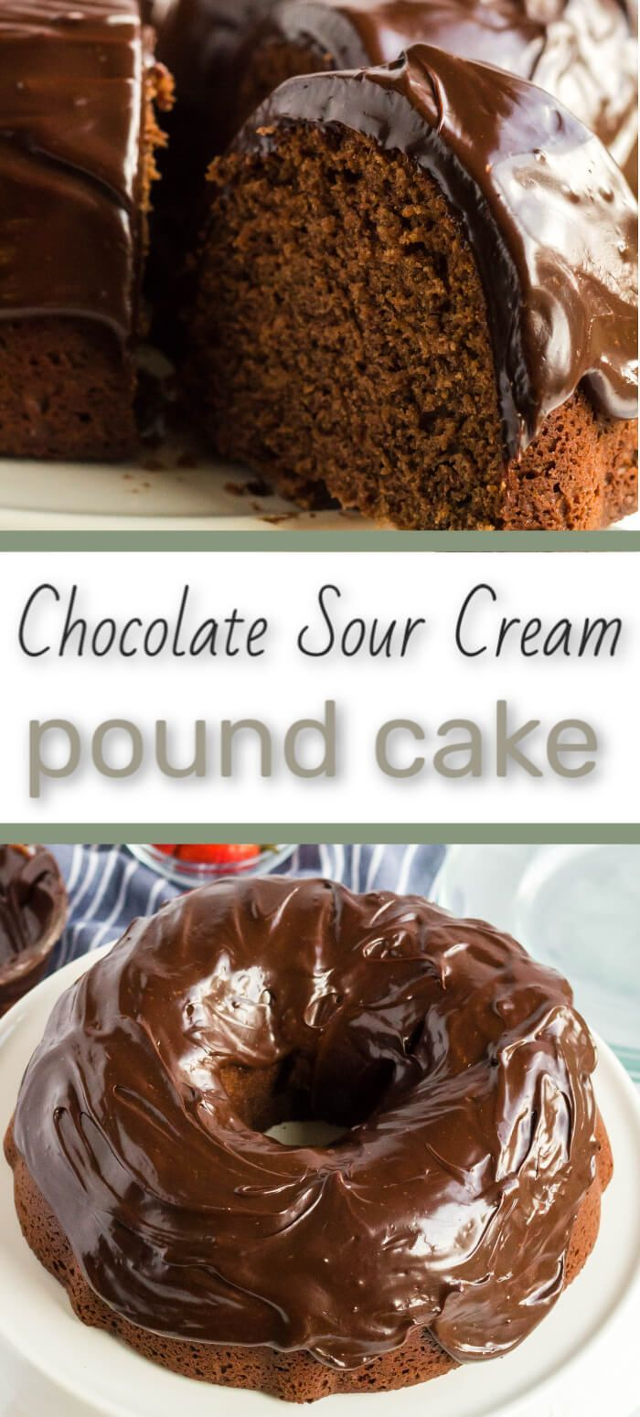 A Chocolate Sour Cream Pound Cake That Ll Impress The Crowd Recipe Sour Cream Pound Cake Desserts With Chocolate Chips Chocolate Recipes Easy