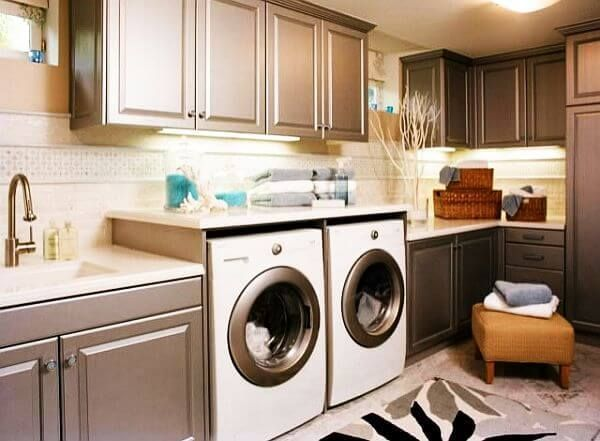 Basement Laundry Room Ideas DIY Design Unfinished Makeovver Curtains Small