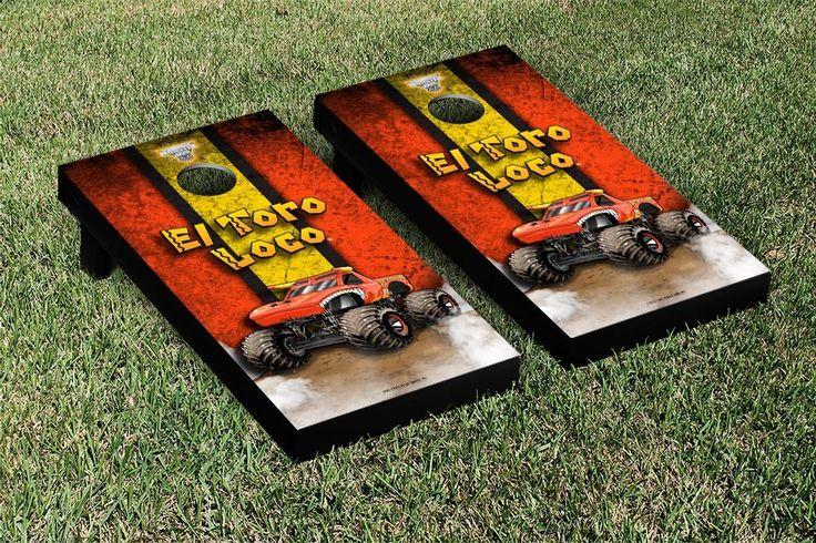 Monster Jam El Toro Loco Vintage Version Cornhole Game Set