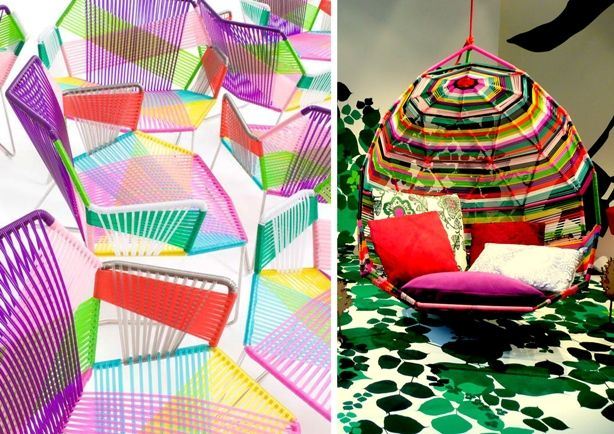 #SpringSummer2013 #SS13 #Architecture #Interiors #Furniture #Trend #Report Left: Tropicalia by Patricia Urquiola Right: Tropicalia Cocoon by Patricia Urquiola