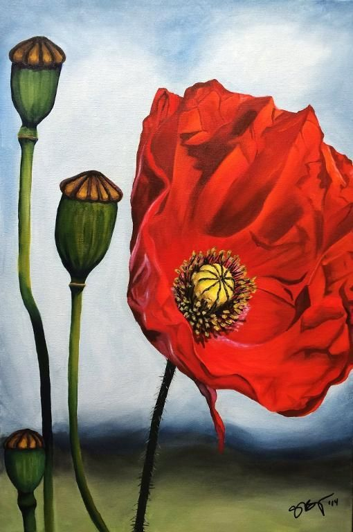 Red Poppy - via @Craftsy