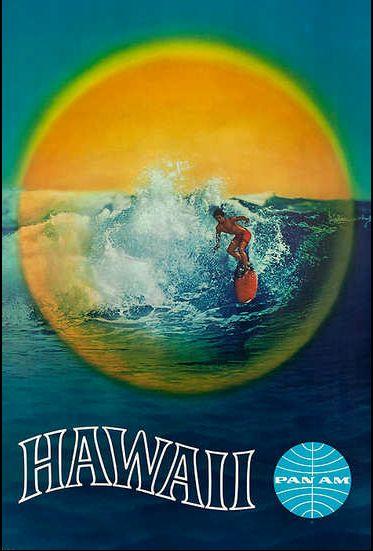 Vintage Travel Poster/ Hawaii - Pan Am