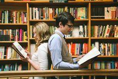 georgetown DC unique bookstore engagement pictures
