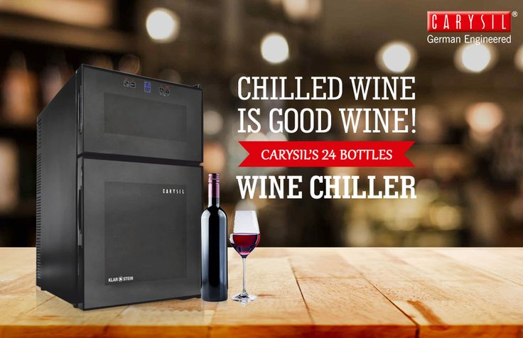 Let the Wine Flow with Carysil's 24 Bottles Wine Chiller! #CarysilKitchen #WineChiller #Kitchen