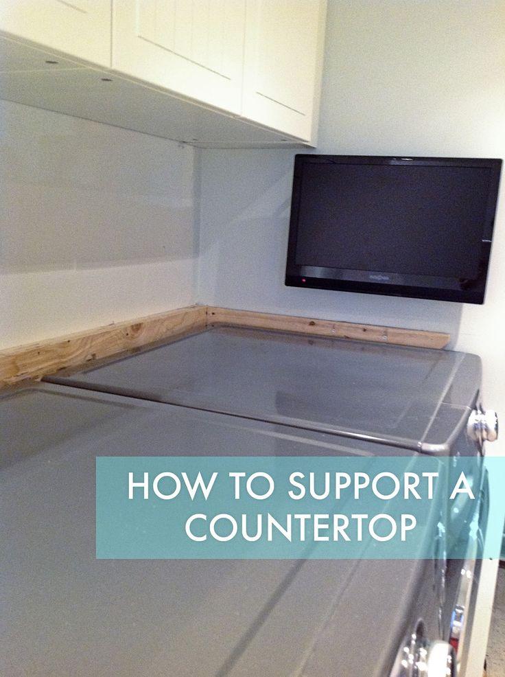 Rambling Renovators: How To Support A Countertop  *Bonus: Stainless Steel Countertop?