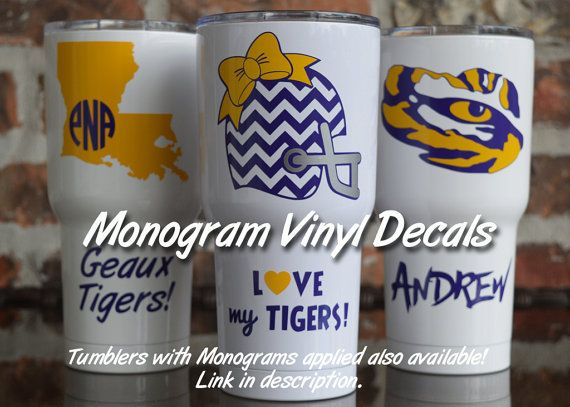 Vinyl Decal / LSU Yeti Decal / LSU SIC Decal / Tiger by VinylGifts