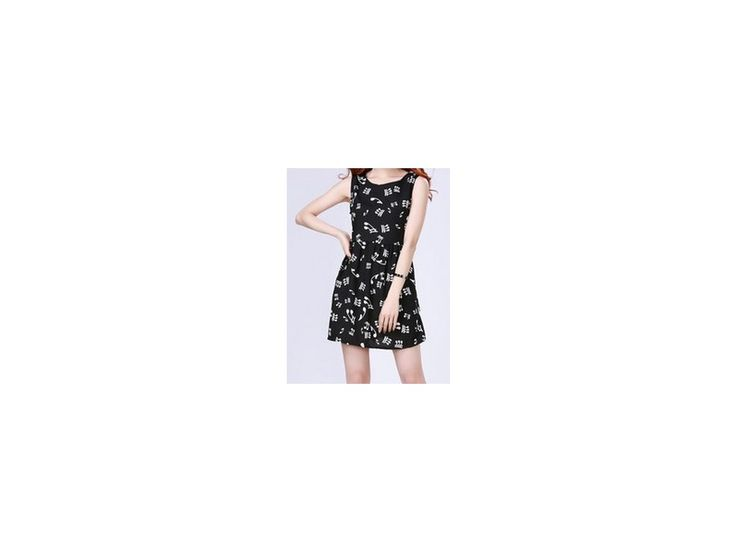 Dívčí šaty s notami - černé - HUDEBNIKUM.CZ