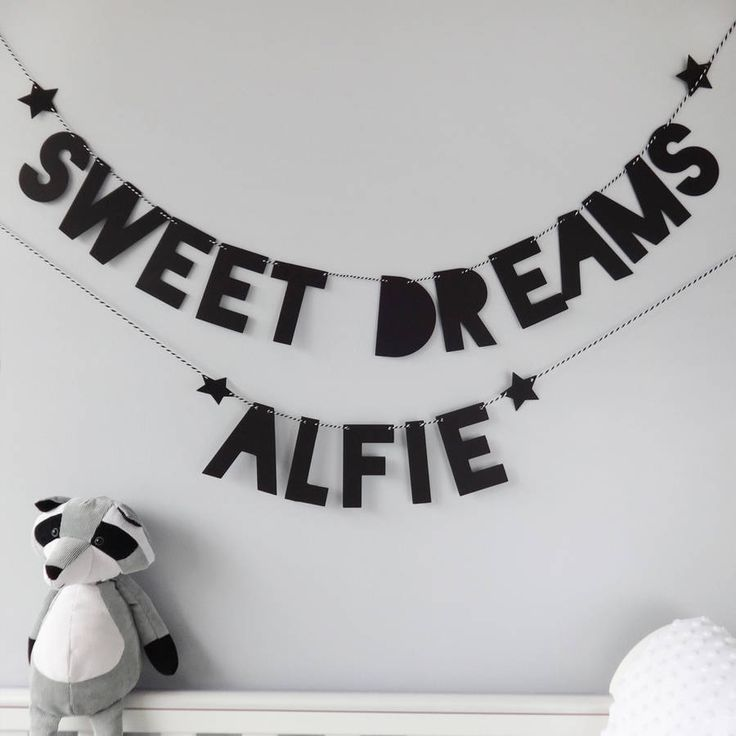 Personalised Sweet Dreams Bunting, baby nursery decor, home and living, home decor
