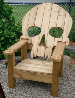 Adirondack Chair Plans Pallet Furniture Plans | Badass Adirondack Skull Chair by Hushgirl