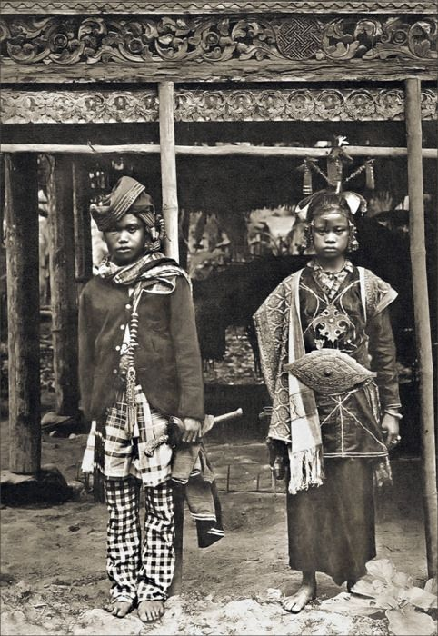 one of tribes in Indonesia in old photo