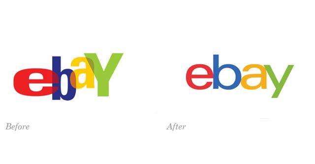 I started buying and selling on Ebay very early on ! Wish I'd invested some into their stock! ebay logo - before and after