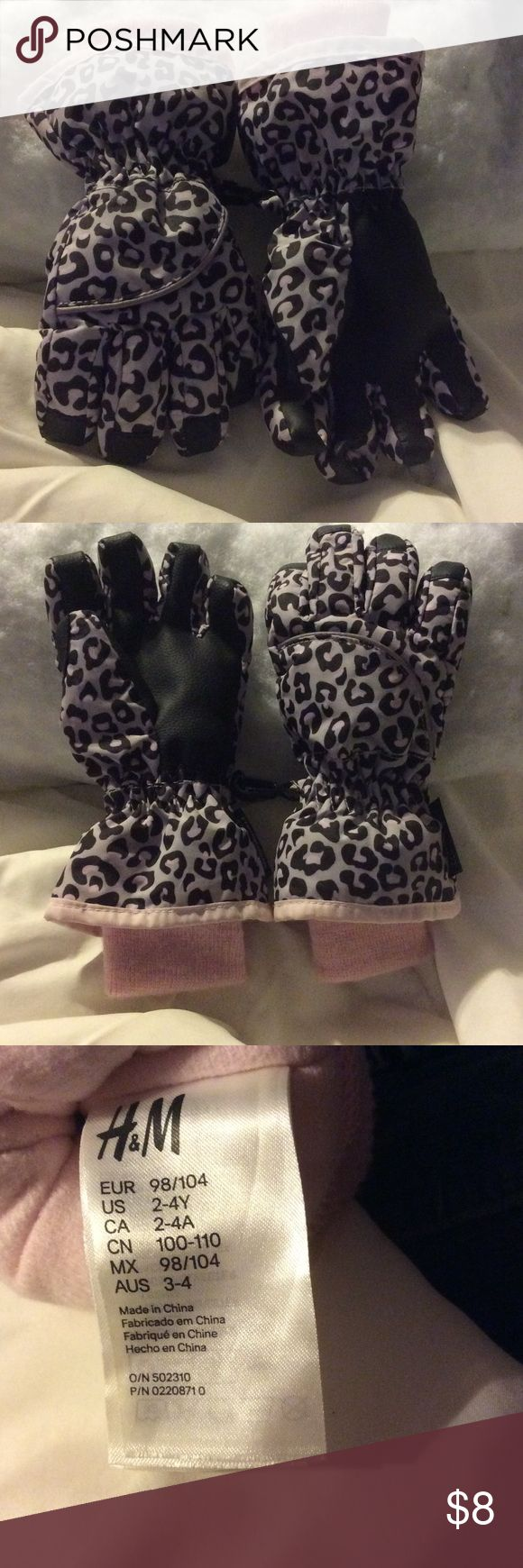 Leather work gloves screwfix - H M Pink Grey Leopard Gloves Super Cute Thinsulate Gloves With