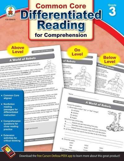 Common Core Differentiated Reading for Comprehension, Grade 3
