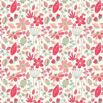 Ретро цвета цветочный узор