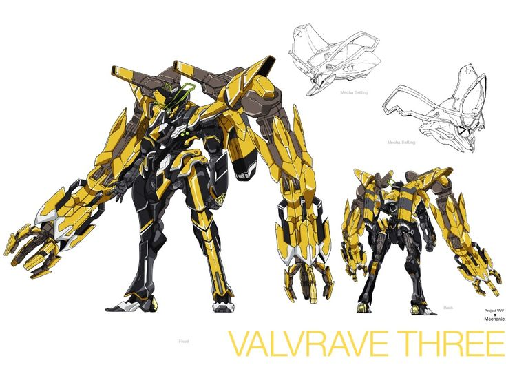 Valrave Three from valvrave the liberator by Superheroforever21