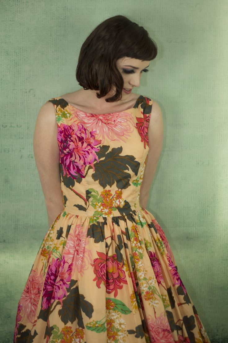 Beautiful Tea Party Frock in a soft peach Japanese voile.   https://www.etsy.com/au/listing/477871415/tea-party-frock-sunkissed-floral https://www.etsy.com