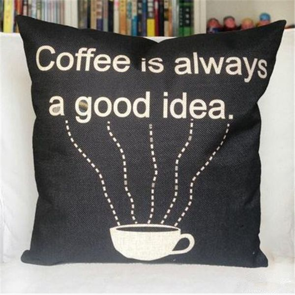 Винтажный стиль кофе черный подушки coever наволочка диван подушка белье чехол украшения дома 45 * 45 см