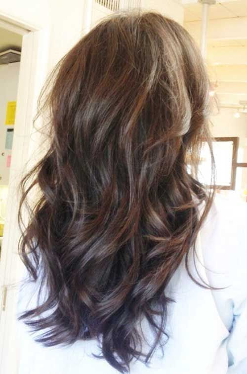 how to style hair with layers layer cut hairstyle for wavy hair hair 9677