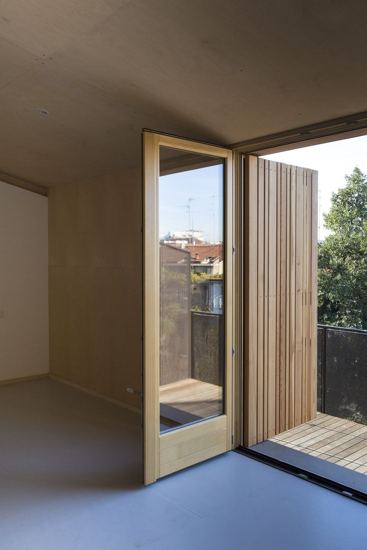 #architecture #timber #rooftop #renovation #extension #archdaily #archilovers #architizer #larch #timber #stack #terrace #exterior #instamood #refurbishment #milan #piuerre #interior #plywood #birch #walls #grey #floor #osb #painted
