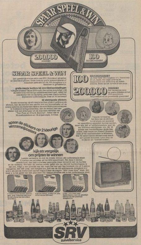 Advertentie SRV-actie 1974.