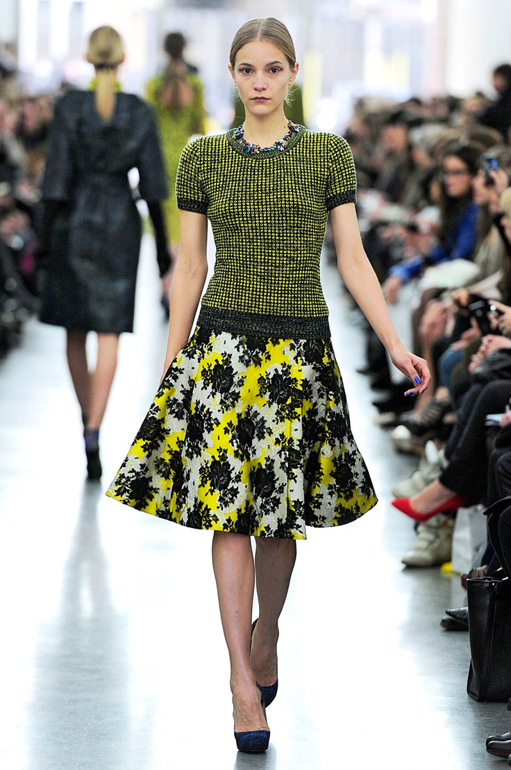 ErdemAw12, Erdem Rtwfw2012, Inspiration Prints, Colors Palettes, Rtwfw2012 Runway, Addition Case, 12 Inspiration, Black, Vintage Inspiration Style
