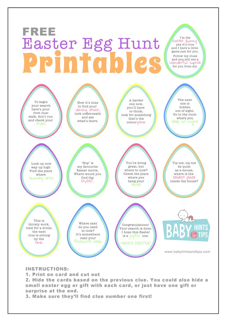 Easter Egg Hunt printables. Inside